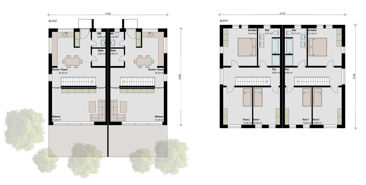 doppelhaus kreativ mr hausmacher. Black Bedroom Furniture Sets. Home Design Ideas